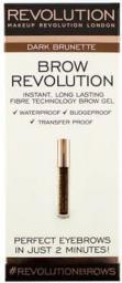 Makeup Revolution Brow Revolution Żel do brwi Dark Brunette 3.8g