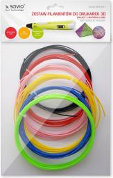 Elmak Zestaw filamentów do drukarek 3D   6x3m   Full Color  (SAVIO DRP-041)