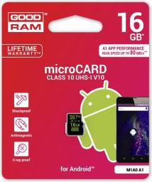 Karta MicroSD GoodRam SDHC 16GB Class10 (M1A0-0160R11-A1)
