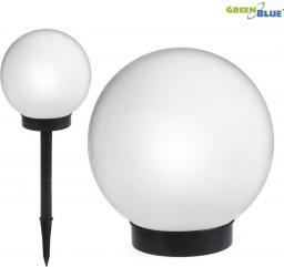 GreenBlue Solarna lampa ogrodowa kula LED GB123 biała