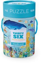Crocodile Creek Puzzle 100el., motyw morskie zwierzęta (CC-4054-3)