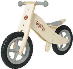 TupTup Drewniany rowerek biegowy GREY (TT031)