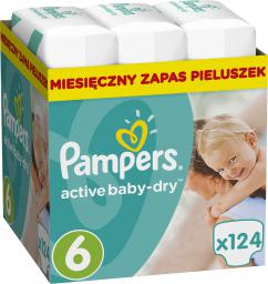 Pampers Pampers Active Baby-Dry Rozmiar 6 (Extra Large) 124 Pieluszek