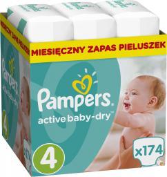 Pampers Active Baby-Dry rozmiar 4 (Maxi), 174 pieluszki