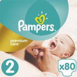 Pampers Pieluchy Premium Care rozmiar 2 (Mini) 3–6kg 80 szt