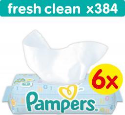 Fresh Clean chusteczki dla niemowląt 6 x 64 sztuki