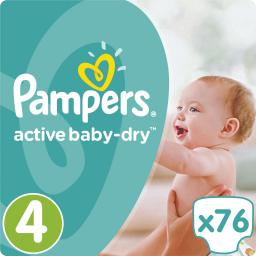 Pampers Active Baby-Dry rozmiar 4 (Maxi), 76 pieluszek