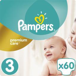 Pampers Pampers Premium Care rozmiar 3 (Midi), 5–9kg, 60 pieluszek