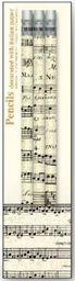 ROSSI Ołówek ozdobny z gumką Musical score PST 639