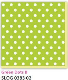 Pol-Mak Serwetki 33 x 33 cm SLOG 038302 Kropki białe na zielonym tle - WIKR-1010542