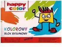 Blok biurowy Happy Color Blok rysunkowy A4 z kolorowymi kartkami Premium 15k