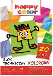 Blok biurowy Happy Color Blok techniczny A4 20 kartek kolorowych (WIKR-0985740)