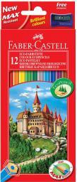Faber-Castell Kredki ołówkowe 12 kolorów Zamek 120112LE