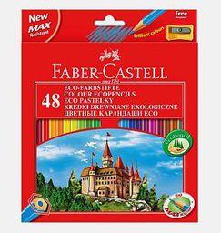 Faber-Castell Kredki 48 kolorów z temperówką Zamek  - WIKR-967869