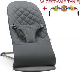BABYBJORN  Leżaczek BLISS - Antracytowy + Zabawka