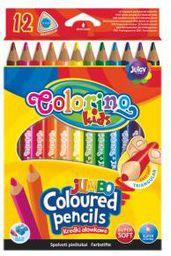 Patio Kredki ołówkowe trójkątne 12 kolorów Jumbo Colorino