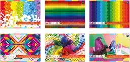 Blok biurowy Interdruk Blok techniczny A4 z kolorowymi kartkami - WIKR-000419