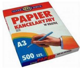 Interdruk Papier kancelaryjny w kratkę A3/500 arkuszy