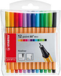 Stabilo Cienkopis mini 12 kolorów - WIKR-930533