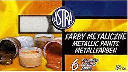 Astra Farby plakatowe 6 kolorów/10 ml metaliczne