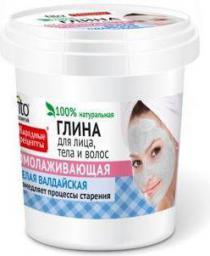 Fitocosmetics Przepisy Ludowe Glinka biała odmładzająca do twarzy, ciała i włosów 155ml