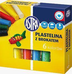 Astra Plastelina 6 kolorów brokatowa