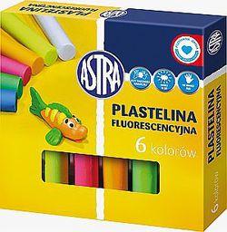 Astra Plastelina 6 kolorów fluorescencyjna