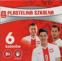 Astra Plastelina szkolna 6 kolorów PZPN 303216001 - WIKR-1005990