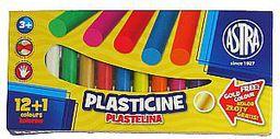 Astra Plastelina 12 kolorów + złoty kolor gratis!