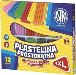 Astra Plastelina prostokątna 12 kolorów 303117