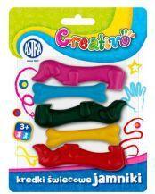 Astra Kredki świecowe 5 kolorów jamniki Creativo - WIKR-942877