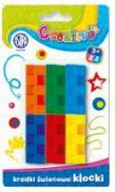 Astra Kredki świecowe 6 kolorów Klocki Creativo - WIKR-942880