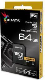 Karta ADATA MicroSDXC 64GB Class 10 (AUSDX64GUII3CL10-CA1)