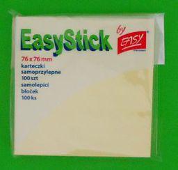 Blok biurowy Easy Karteczki samoprzylepne 76x76 mm żółte - WIKR-051171