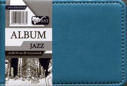 Elefant Album Jazz na 20 wizytówek A7 turkusowy - WIKR-0995364