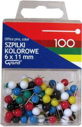 Grand Szpilki kolorowe 6x11 mm   - WIKR-1016293