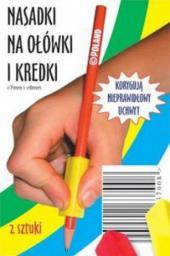 Harmonia Nasadki trójkątne podłużne na ołówki i kredki 2szt.