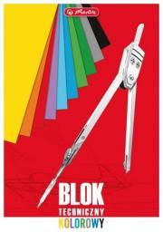 Blok biurowy Herlitz Blok techniczny A4. 10 kartek kolorowy  (0998467)