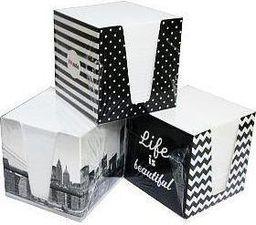 Blok biurowy Interdruk Kostka papierowa biała w kubiku tekturowym - WIKR-995411