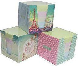 Blok biurowy Interdruk Kostka papierowa kolor w kubiku kartonowym - WIKR-995412