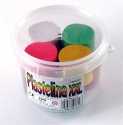 KOMA-PLAST Plastelina 8 kolorów XXL