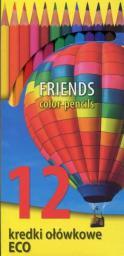 KW Trade Kredki 12 kolorów eco białe 170-2302 (WIKR-0995149)
