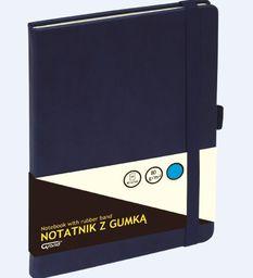 KW Trade Notatnik z gumką granatowy A5/80 kartek kratka