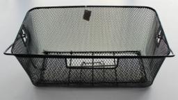 BASIL Kosz na tylny bagażnik BASKET-5 Bottom hooks, stalowy czarny (BAS-11119)