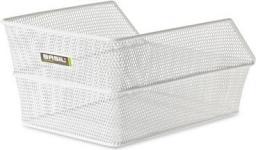 BASIL Kosz na tylny bagażnik CENTO S Mounting set for CENTO basket, stalowy biały (BAS-11184)
