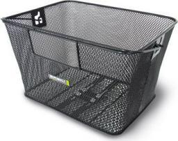 BASIL Kosz na tylny bagażnik CONCORD XL FLEX Bottom hooks, stalowy czarny (BAS-11101)