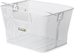 BASIL Kosz na tylny bagażnik CONCORD XL FLEX Bottom hooks, stalowy biały (BAS-11193)