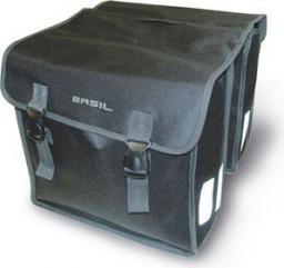 BASIL Sakwa miejska podwójna MARA XL 35L, mocowanie na paski, wodoodporny poliester, czarna (BAS-17108)