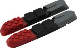 Clarks Wkładki hamulcowe CLARK'S CPS501 MTB (V-brake, Warunki Suche i Mokre) 70mm czerwono-czarno-szare