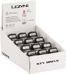 Lezyne Lampka przednia LED KTV BOX SET usb czarna pudełko 12szt (LZN-1-LED-12F-BOX12-V104)